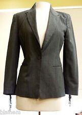 Women's Michael Kors Size 4 Charcoal One Button Blazer Brilliant Cuff Accents