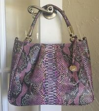 Brahmin Ruby Satchel Berry Opal Seville Leather Shoulder Bag