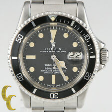 Rolex Vtg Submariner Stainless Steel Oyster Perpetual Watch 1680 w/ Date 1978-79