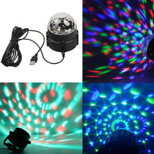 Car DJ Club Disco KTV Party Bar RGB Crystal LED Ball USB Rotating Stage Light #5