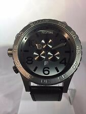 "Men's Watch Nixon"" 51-30 CHRONO ""Oro/Pelle Nera-data analogico,"