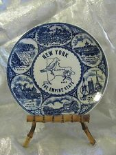 "New York State plate, no chips or defects, 8"" diameter"