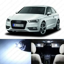 12 x Xenon White LED Interior Light Package For 2006 - 2013 Audi A3 S3 8P