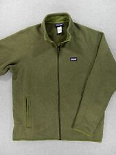 Patagonia BETTER SWEATER Full Zip Fleece Jacket (Mens Large) Green
