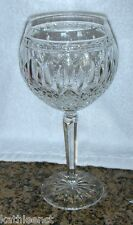"Waterford Crystal CLARENDON 7 7/8"" Balloon Wine Hock Glass Beautiful!"