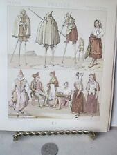 Vintage Print,FRANCE STILT WALKERS,Chromo,Costumes Historiques