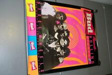 1989 THE ROLLING STONES STEEL WHEEL TOUR POSTER BAND MUSICAL BUD BEER