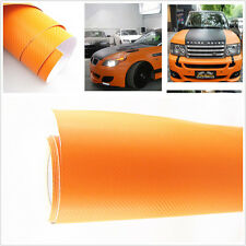 30X127 CM Orange Carbon Fiber Vinyl Wrap Stickers Car SUV Interior Accessorie PC