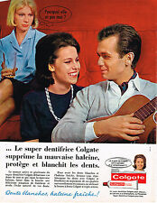 PUBLICITE ADVERTISING 035  1964  COLGATE   dentifrice