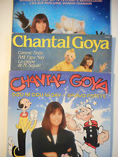 ► LOT DE 3 x LP 33t. ◄ CHANTAL GOYA (LE CHAT BOTTÉ, POPEYE, TINTIN)