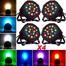 4Pcs RGB LED Stage Light DMX Par CAN DJ Disco Uplighter Lighting Effect Strobe