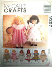 """Doll clothes frilly dresses 1st communion bloomers panties pattern 9207 sz 18"""""""
