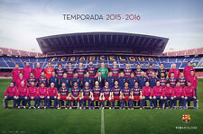 FC BARCELONA - SPORTS POSTER / PRINT (TEAM PHOTO 2015 / 2016)