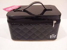 #M Caboodles  I Candy TRAIN CASE MAKEUP ORGANIZER BAG BLACK NEW-Tray Missing