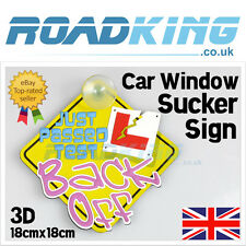"3D 7"" Car Window Sucker Sign - Learner L Just Passed Test 