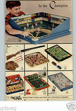 1960 PAPER AD 2 Pg Game Tabletop Football Baseball Electric Hockey Tru-Action