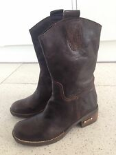Rifle Boots Size Uk 6 Eur 39 ladies Brown  100% Real leather New Designer