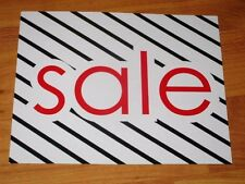 "LOT OF 25 striped Sale 5""X7"" Business Sign Retail Store Discount Promotion signs"