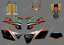 TEAM GRAPHICS & BACKGROUND DECALS FOR KTM EXC 125/200/250/300/400/450/525 2004 Y