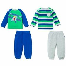 NEW Little Me Boys' 4-piece Daycare Sets Airplane L/S Tops Pants Green Multi 18M