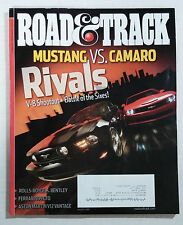 ROAD & TRACK CAR MAGAZINE 2010 AUGUST MUSTANG CAMARO BATTLE