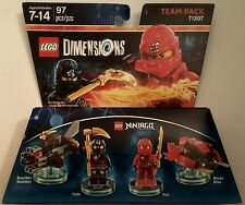 NEW LEGO DIMENSIONS TEAM PACK NINJAGO COLE KAI 71207 FREE WORLDWIDE SHIPPING
