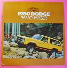 1980 DODGE RAMCHARGER SALES SHOWROOM BROCHURE....8-PAGES