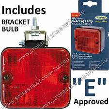 Ring RL014 12v Car Trailer Approved Square Rear Bumper Mount Red Fog Lamp Light
