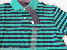 Men's Tommy Hilfiger Polo shirt stripe knit logo 7845165 Viridis 310 L Slim Ft