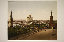 ANTIQUE OLD ORIGINAL PHOTOGRAPHY PHOTO PRINT RUSSIAN VIEWS OF MOSCOW KREMLIN