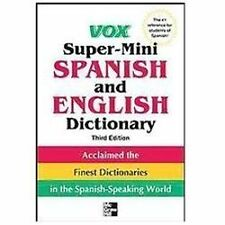Vox Super-Mini Spanish and English Dictionary by Vox (2012, Paperback)