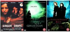 GINGER SNAPS Trilogy Complete DVD Movie Collection Set Part 1+2+3 BACK UNLEASHED