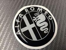 1 Adesivo Stickers ALFA ROMEO Nero e Bianco 30 mm 3D resinato auto