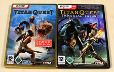2 PC SPIELE SAMMLUNG TITAN QUEST LIMITED EDITION IMMORTAL THRONE - ACTION RPG