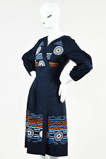 "Peter Pilotto NWT $1665 Navy Orange Embroidered ""Alethia"" Dress SZ 10"