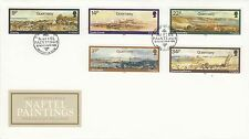 (47149) GB Guernsey FDC Naftel Paintings - 19 November 1985