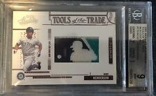 2005 Absolute Tools Of The Trade Rickey Henderson Logoman Patch 2/3 Bgs 9 Tott