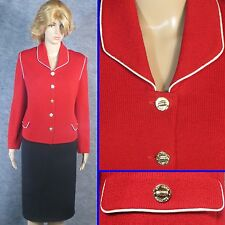 GORGEOUS! ST JOHN COLLECTION KNIT RED JACKET SZ 14