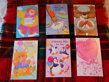 LOT OF 6 KIDS BIRTHDAY GREETING CARDS