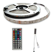 5M 5050 RGB Waterproof LED Flexible Strip Lighting 12V + 44 Key Remote Receiver
