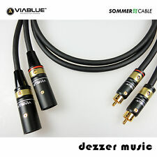 2x 0,5m Câble Adaptateur Galileo viablue/été Cable 0,50/xlr CINCH MALE... High End