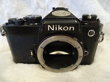 Nikon FE 35mm SLR Film Manual Camera Body - Black view pictures fully working