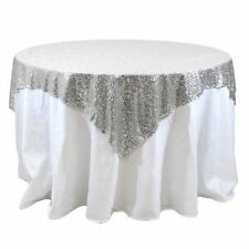 5 lot Sequin Table Overlay 60x60 inch Sparkly Tablecloth 3 COLORS Wedding Cake