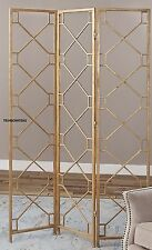 HOLLYWOOD REGENCY STYLE DECOR ~ GOLD LEAF ROOM DIVIDER ~ PANEL SCREEN PARTITION