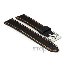 StrapsCo Genuine Leather Watch Strap Contrast Stitching mens or womens Band