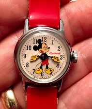 Vintage 1950s Ingersoll US Time Mickey Mouse Wrist Watch