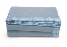 ONKAPARINGA Washable Baby Cot Nursery BLUE Wool Blanket 120 x 160cm - COT