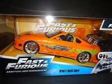 Jada Toyota Supra 1995 Orange Brian's Car Fast and Furious 1/24