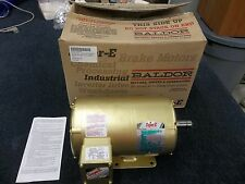 BALDOR SUPER-E INDUSTRIAL MOTOR M23A 2HP 200V 6.1A 1725 RPM KEY SHAFT NEW