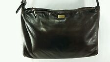 Stone Mountain Genuine Soft Pebble Chocolate Brown Leather Shoulder Satchel Hobo